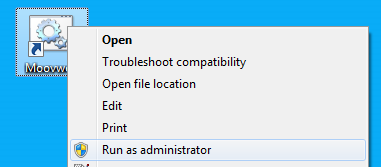 "Right-click and select ""Run as administrator"""